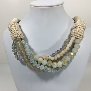 Jewelry - Multi-strand Bib Necklace 18.5""